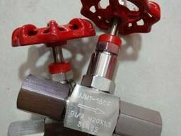 Игольчатые вентили нержавеющие AISI304 Ру160 Ду15 с муфтой,