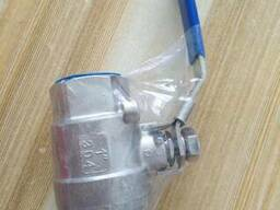 Кран шаровой муфтовый двухсоставной нержавеющий AISI304 с ру