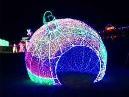 Светодиодные фигуры елочные шары - фото 2