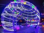 Светодиодные фигуры елочные шары - фото 3