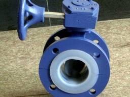 Затвор дисковый фланцевый футерованный F46 - фото 1