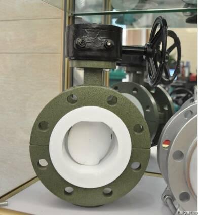 Затвор дисковый поворотный фланцевый футерованный F4