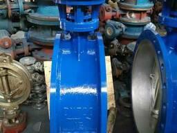 Затвор дисковый поворотный стальной Ру16 Ду700 с редуктором
