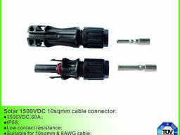1500VDC солнечный кабель разъем 10sqmm с TUV утвержден