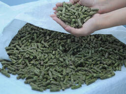 Compound feed for animal husbandry.