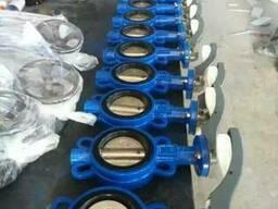 D71X Затвор дисковый поворотный межфланцевый чугунный - фото 1