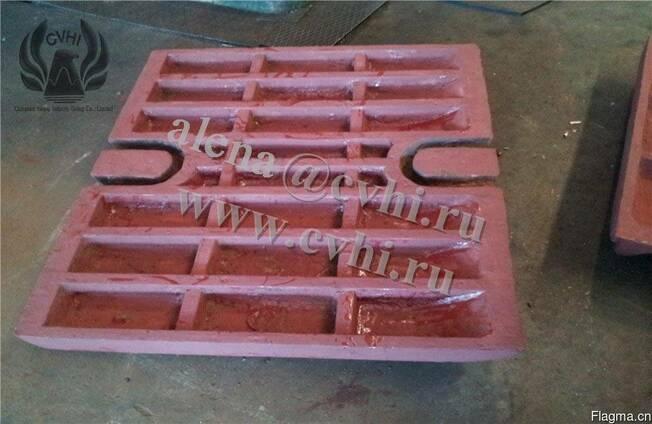 Дробящая плита дробильных оборудований щёковая дробилка СМД
