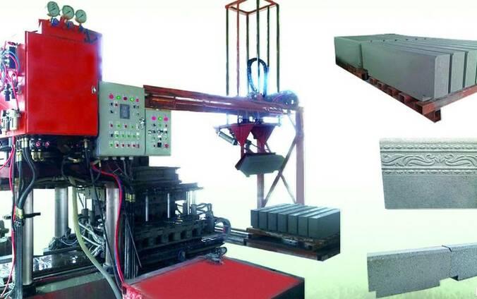 Гидропрессовое оборудование по производству бордюров QPS-800
