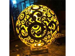 Городская ажурная скульптура шары под заказ в Китае фабрика