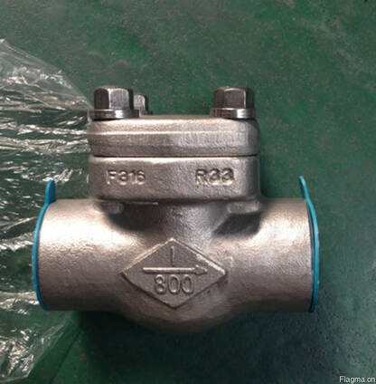 Клапан обратный муфтовый нержавеющий кованный Ру160 Ду25