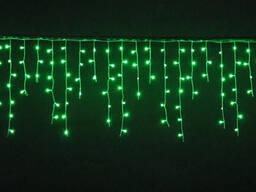 Купить led гирлянды бахрома статичная зеленая