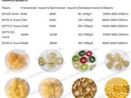 Линия для производства 2Д пеллетов(полуфабрикатов для чипсов
