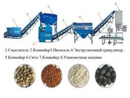 Линия гранулирования органического удобрения из отходов