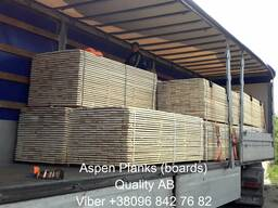 Sell sawn timber, edged planks Aspen