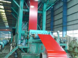 Стальная пластина с цветным покрытием(в рулонах) PPGI