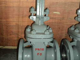 Задвижка стальная с выдвижным шпинделем 30с41нж Ру16 Ду80 в - фото 1
