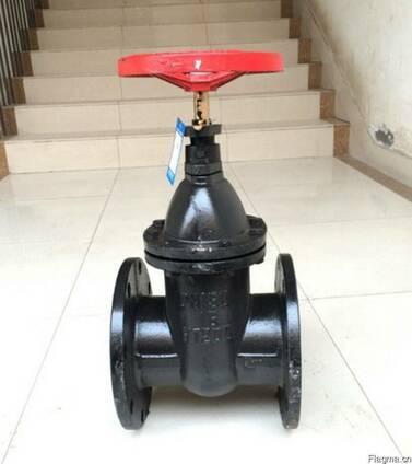 Задвижки чугунные с невыдвижным шпинделем Ру10 Ду100, Китай