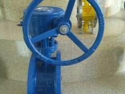 Затвор дисковый поворотный фланцевый Ру16 Ду300 с редуктором