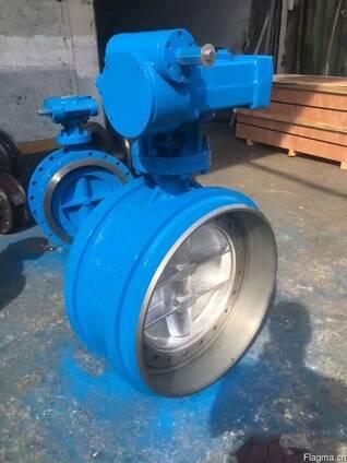 Затвор дисковый поворотный стальной под приварку Ру25 Ду500