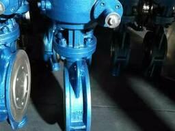 Затвор дисковый поворотный стальной Ру25 Ду250 с редуктором