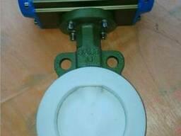 Затворы дисковые поворотные межфланцевые футерованные PTFE